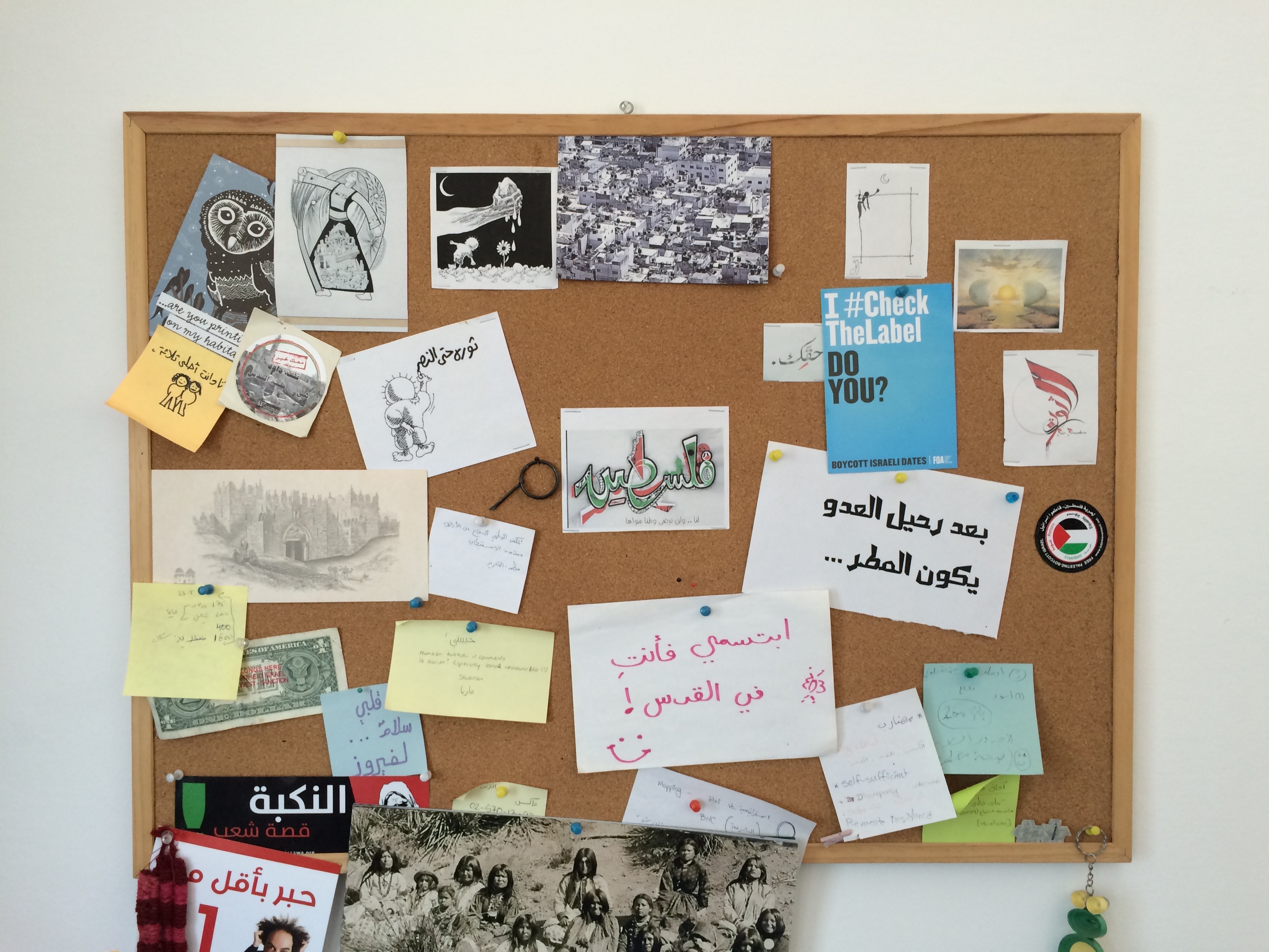 At the office of Grassroots Jerusalem. Photo: Anas Kababo