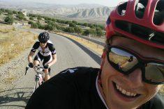 Road biking across the Moroccan landscape