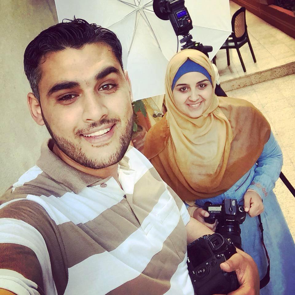Samah Shamali and Mahmoud Abu Hamda in their selfie