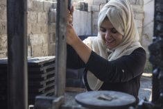 Two Gazan women contribute in world change by making Green Cakes