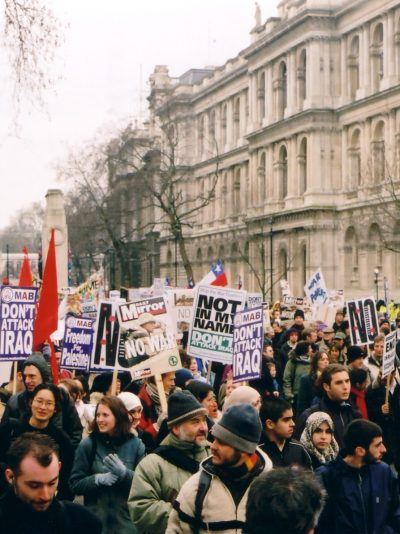 Before the Iraq War, the people called for peace